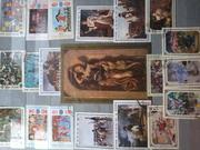 почтовые марки (искусство,  флора,  фауна)
